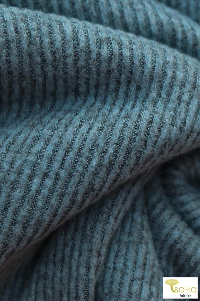 Snow Blue Brushed Ribbed Knit. BRIB-204-BLU