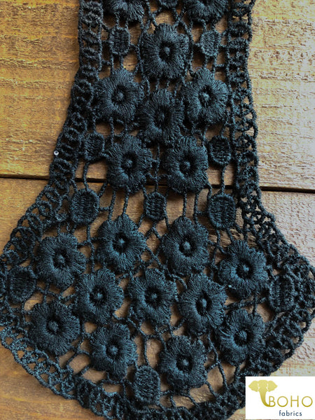 Floral Vines Applique in Black.  Style #FA-01