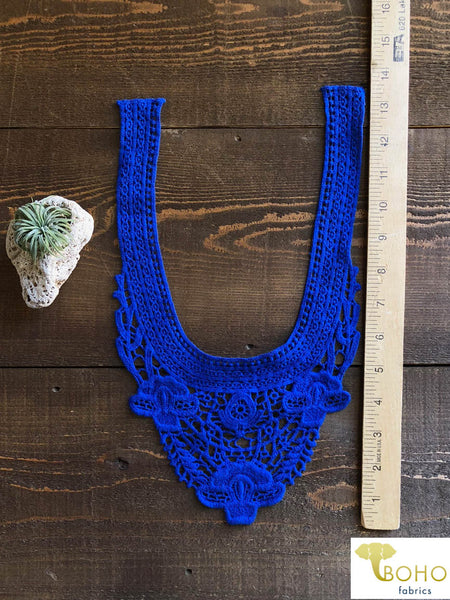 Iris Bloom Applique in Royal Blue.  Style #FA-08
