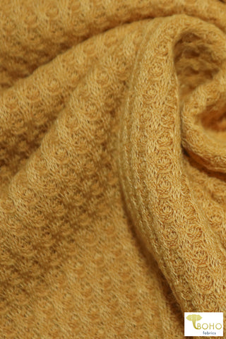 Butterscotch Yellow Waffle Knit. WAFF-126
