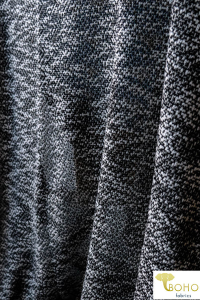 Snow Tracks. Loose Weave Sweater Knit Fabric.  SWTR-067