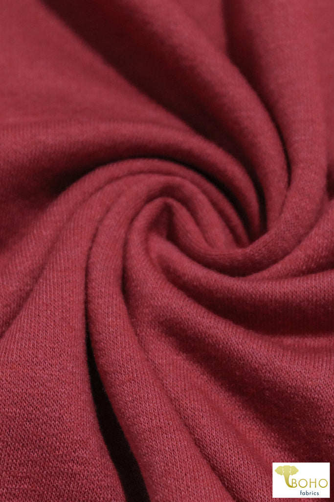 Cinnamon Spice French Terry Knit Fabric. FTS-201