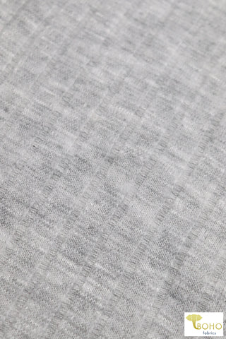 Gray Fog 9x4 Brushed Rib Knit Fabric. BRIB-201-GRY