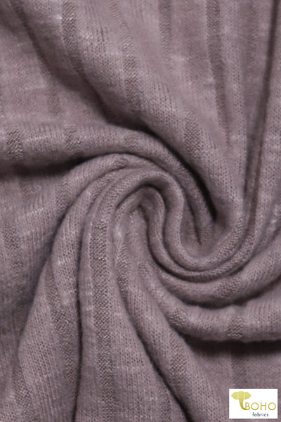 Light Lilac 9x4 Brushed Rib Knit Fabric. BRIB-201-PURP