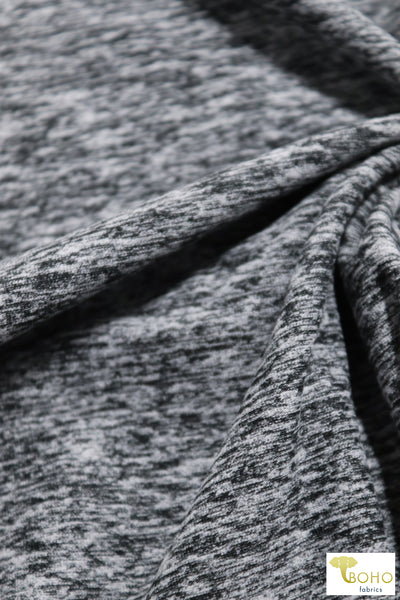 Gray Space Dyed Brushed Athletic Knit. ATH-113