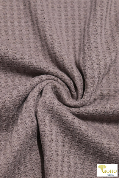 Blushed Purple Taupe Waffle Knit Fabric. WAFF-127