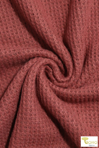 Copper Rose Brushed Thermal Knit Fabric. BWAFF-121