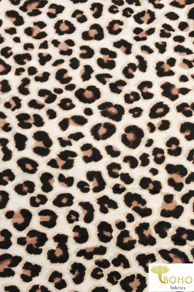 Classic Leopard French Terry French Terry Knit Fabric. FTP-304