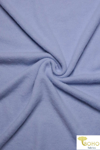 Lavender Periwinkle Brushed Sweater Knit Fabric. BSWTR-213