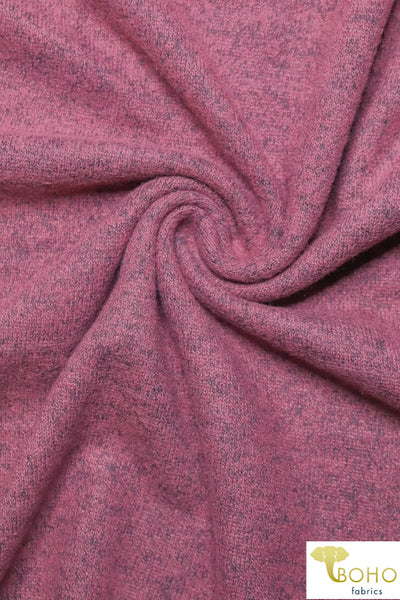 Princess Pink Brushed Sweater Knit Fabric. BSWTR-306
