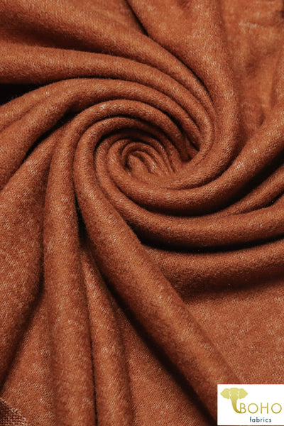 Autumn Rust Brushed Sweater Knit Fabric. BSWTR-305