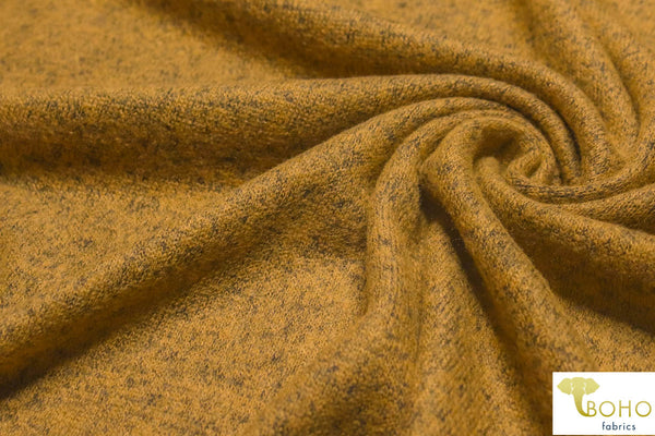 Harvest Yellow Brushed Sweater Knit Fabric. BSWTR-303