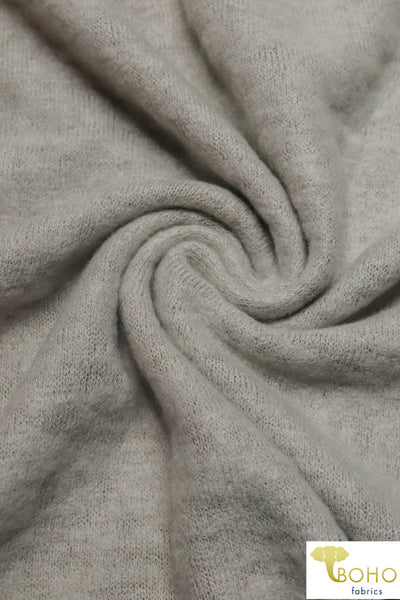 Taupe Brushed Sweater Knit Fabric. BSWTR-311