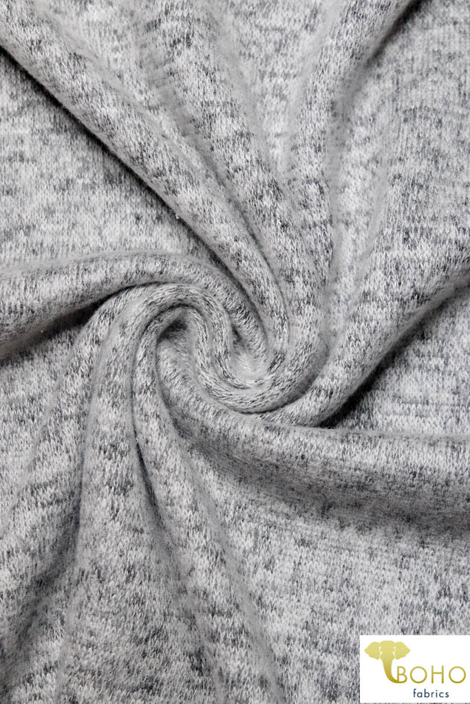 Light Gray Brushed Sweater Knit Fabric. BSWTR-310