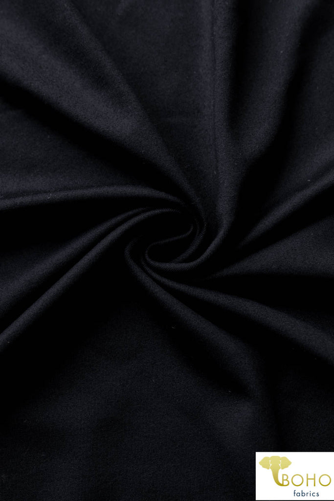 1 Yard Last Cut! Supplex in Black  Nylon/Spandex Blend.  320 GSM.  Use for Activewear and Yoga!