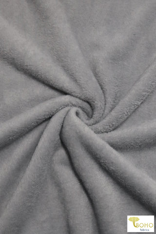 Shimmer Gray.  Silken Fleece Fabric.