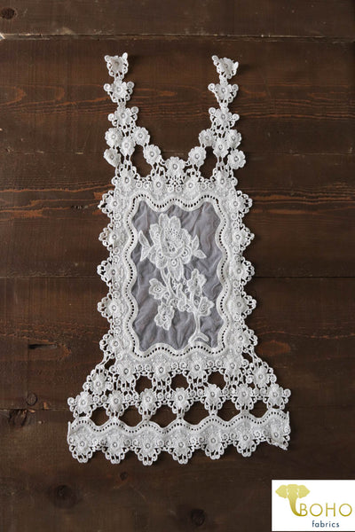 Floral Chain Large Back Appliqué.  Style #FA-15