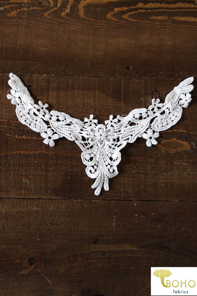 Flower Vine Ivory Applique.  Style #FA-16