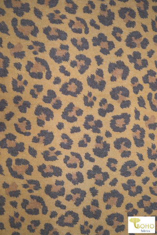 Lovely Leopard. Soft Sweatshirt Knit Fabric. SWT-111