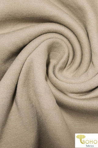 Light Brown, Ponte Di Roma Double Knit Fabric. PNT-109.