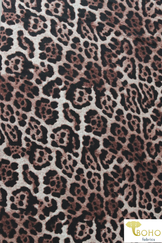 Jaguar in Brown, Lightly Brushed Sweater Knit. PRSW-116