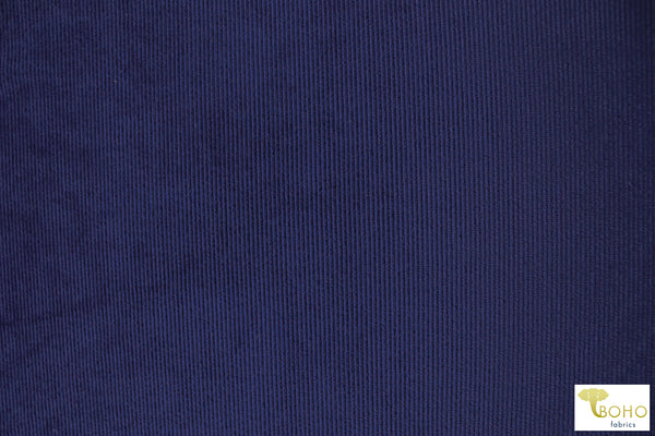 Royal Blue Corduroy Knit Fabric. CRD-103