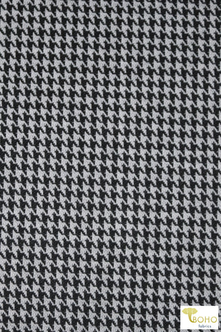 Petite Houndstooth Jacquard in Black & White. JQD-107