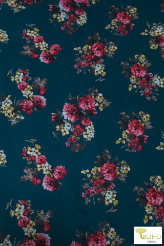 Cressida Florals on Deep Blue/Green, DBP. BPP-315