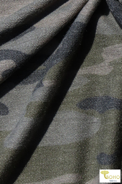 Fashion Camo, French Terry Knit. FTP-313