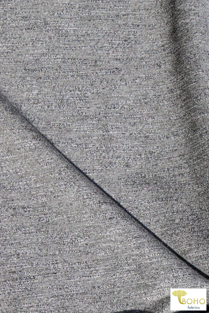 Ultimate Gray, Heathered Cotton French Terry Knit. FTS-202