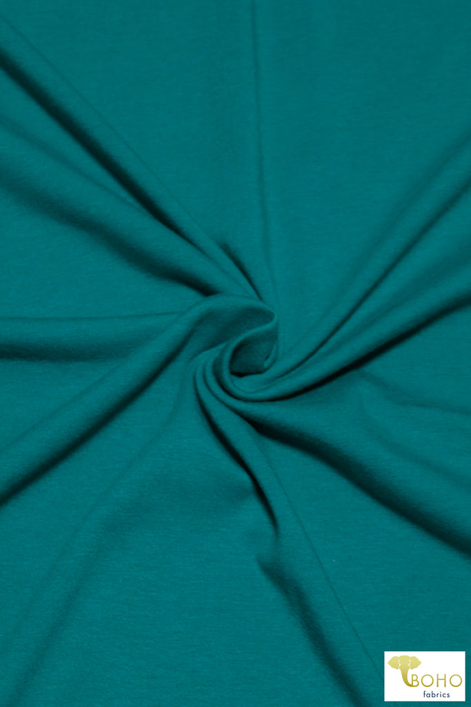 June Bug Teal, Cotton Jersey Knit. CLS-105