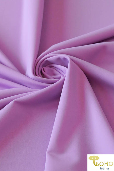 Swim/Activewear Solid in Lilac Purple. Matte Nylon/Spandex Blend