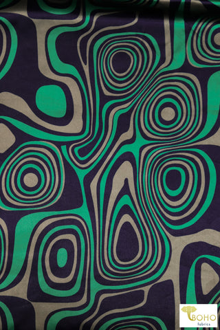 Malachite Dreams, Satin Woven Fabric WVP-213