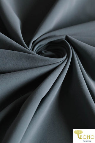 Swim/Activewear Solid in Gray. Matte Nylon/Spandex Blend