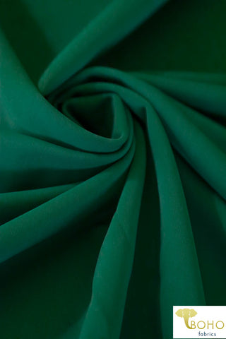 Swim/Activewear Solid in Evergreen. Matte Nylon/Spandex Blend