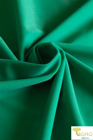 Swim/Activewear Solid in Jade Green. Matte Nylon/Spandex Blend