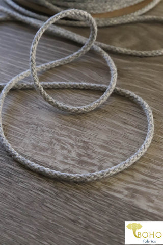 Heather Gray Drawstring Cord (Round) 1/8""