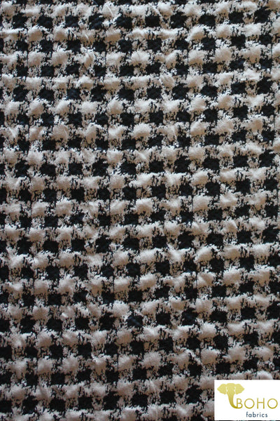 Plaid Jacquard Knit in Neutral/Black