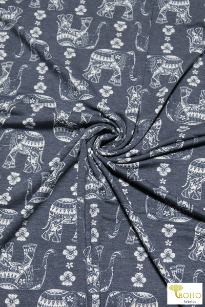 Pollock Grunge. Double Brushed Poly Knit Fabric