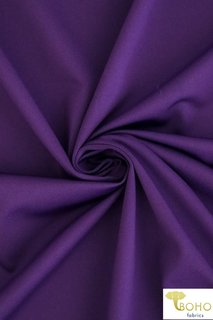 Supplex in Purple Nylon/Spandex Blend. Use for Activewear and Yoga!