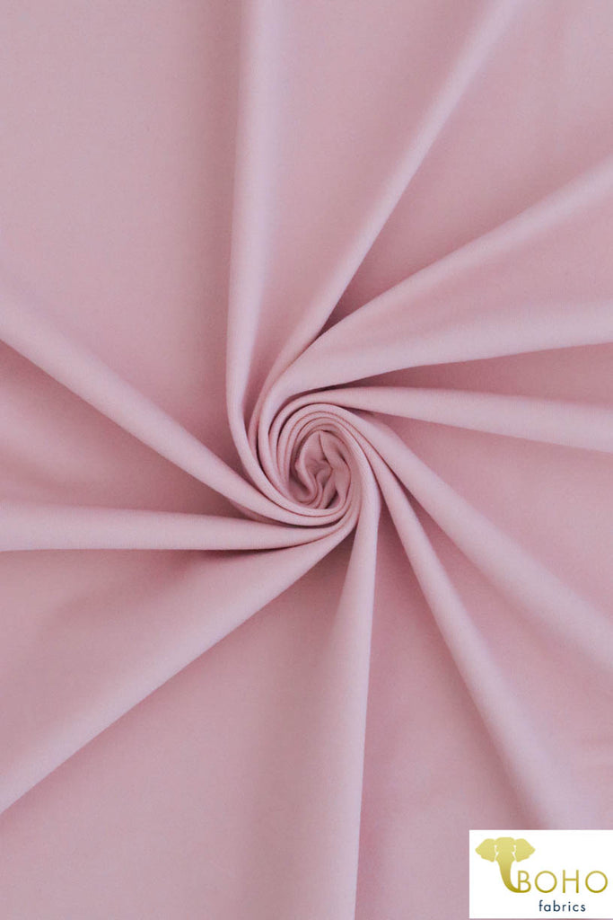 Light Pink Soft Nylon/Spandex Blend. Use for Activewear and Yoga!