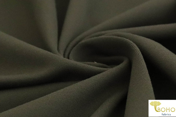Supplex in Olive Nylon/Spandex Blend. Use for Activewear and Yoga!