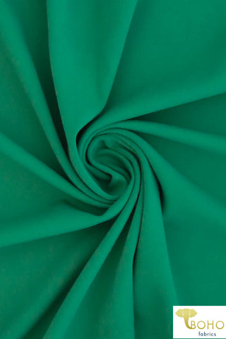 Kelly Green Soft Nylon/Spandex Blend. Use for Activewear and Yoga!