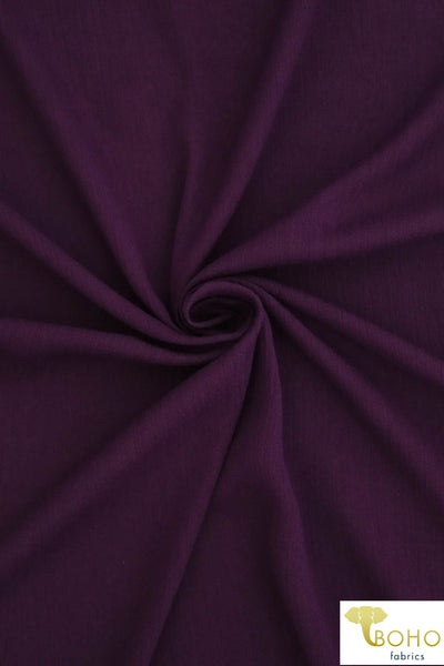 Plum Solid. Rayon Crepe Woven Fabric