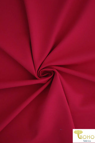 Strawberry Red Soft Nylon/Spandex Blend. Use for Activewear and Yoga!