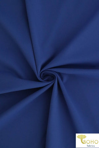 Royal Blue Soft Nylon/Spandex Blend. Use for Activewear and Yoga!