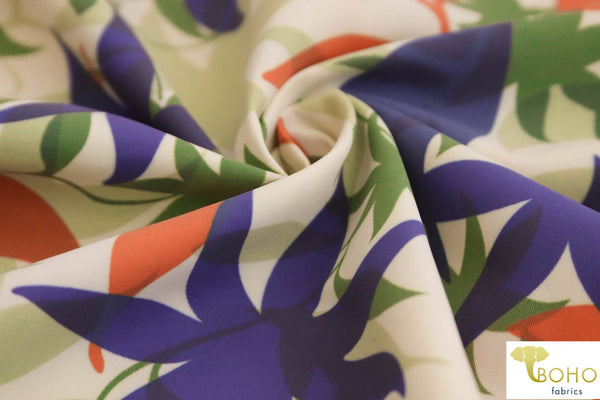 Rainforest Vines. Boardshort Fabric.  Swim/Activewear. Poly Microfiber Woven Fabric