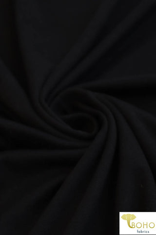 Black. Double Brushed Poly Knit Fabric. BPS-207