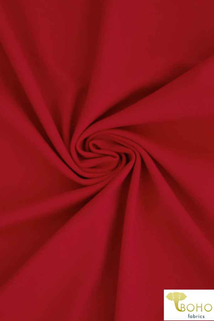 Cherry Red Soft Nylon/Spandex Blend. Use for Activewear and Yoga!