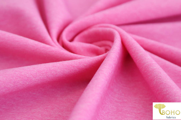 Brushed Nylon Spandex in Heathered Pink. Heavy Wieght. Use for Activewear and Yoga!
